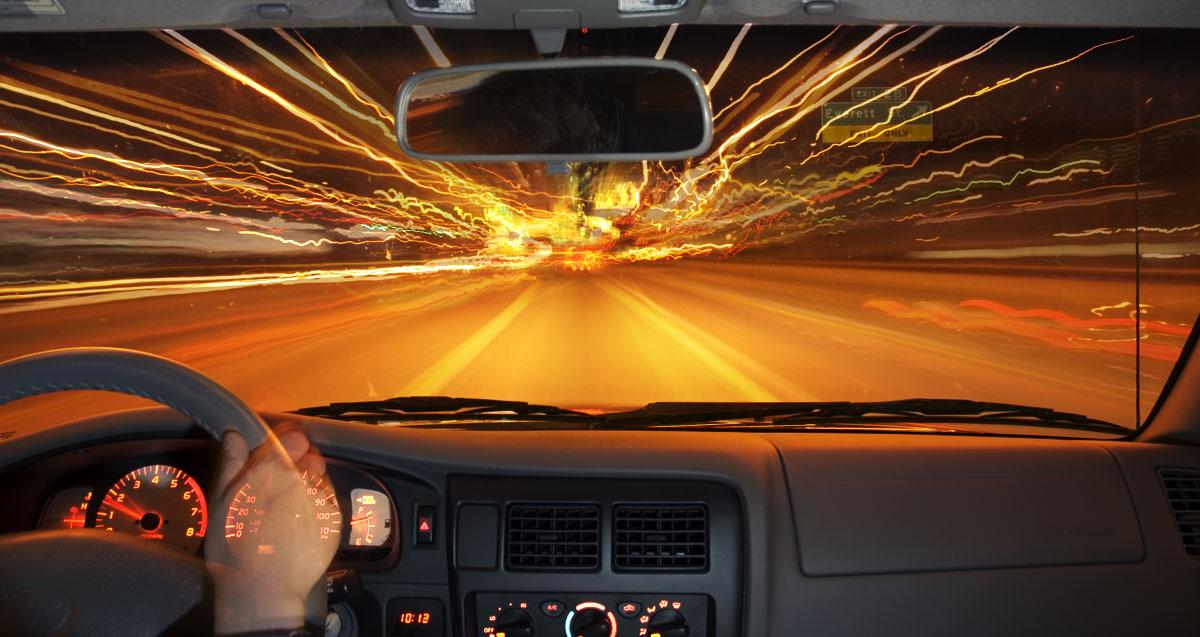 Езда на машине ночью