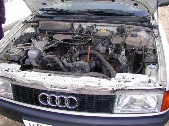 Audi 80 двигатель фото